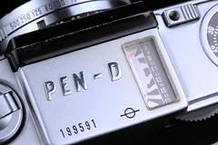 Olympus PEN D top plate (Lightchrome) Tags: olympuspen pend