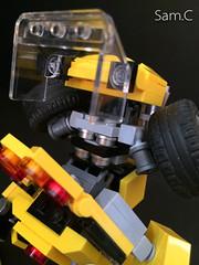 Chibi-Bee: Transforming Mechanism (Sam.C MOCs S2 Studios)) Tags: anime car robot lego transformer chibi bumblebee scifi mech moc