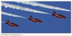 Three Red Arrows (Paul Simpson Photography) Tags: airplane aircraft air bluesky lincolnshire planes intheair photosof imageof planesinthesky photoof imagesof november2015 sonya77 paulsimpsonphotography