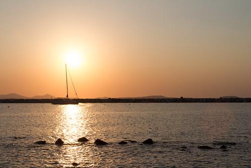 sunset vacation sailboat greece naxos