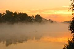 Nebel am Rhein (izoll) Tags: wasser nebel outdoor sony fluss sonne rhein sonnenaufgang morgen sonnenstrahlen stille ruhe morgendmmerung derrhein nebelstimmung alpha380 izoll