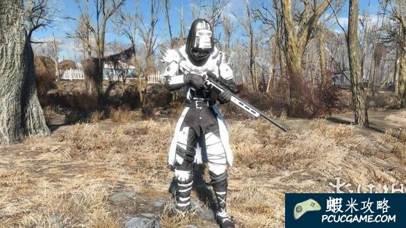 異塵餘生4 超帥護欄裝甲+白色狙擊槍MOD