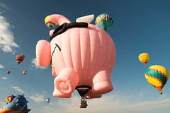When pigs fly (RASwingen) Tags: albuquerque balloonfest