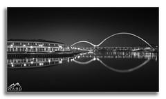 Infinity Bridge, Mono (timothytripod) Tags: mono monochrome bridge bridges blackandwhite pics picture interesting stockton tees river northeast water longexposure canon canonuk explore