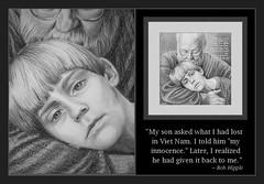 """Innocence"" (detail) (bellydanser) Tags: portrait people drawing graphite pencil pencildrawing blackwhite blackandwhite bw art fineart faces quote vietnam fatherson innocence vietnamveteran child detail"