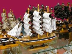 Model Ships (dog.happy.art) Tags: ship ships model models handmade wooden souvenir shop store photoshopping corpuschristi texas padreisland