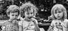 My favourite three (jayneboo) Tags: roni ben norah grandchildren bw mono summer