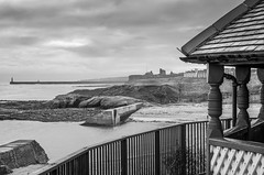Bleak! (munro14) Tags: cullercoats northeast watchtower harbour pier black white bw mono watchhouse