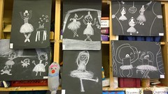 Degas in the Classroom (mcginley2012) Tags: lumia1020 cameraphone art degas chalk classroom gallery drawing chalkdrawing pictures creativity dancers tutu