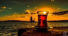 Istanbul's Three (BeNowMeHere) Tags: ifttt 500px trip benowmehere istanbul istanbulthree landscape maidenstower seagull sky sunset turkey color colorful seascape tea travel
