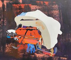 Jim Harris: Immer neue Sterne, immer neue Rätsel und Bilder kommen ihm in Sicht. (Jim Harris: Artist.) Tags: art arte malerei konst kunst weltraum space stern probe painting