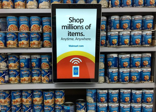 display of soup at walmart