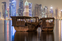 City Perspective! (aliffc3) Tags: doha qatar dhows skyscrapers longexposure nikond750 nikon70200f4