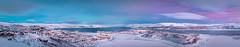 Kirkenes (Steven-ch) Tags: krikenes landscape winter soldaterbukta dawn canon artic town sea norway eos5dmarkiv bokfjorden prestebukta kirkenesfjorden lapland travel prestoya twilight fjord finnmark frozen panorama europe harbour ice no