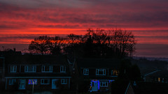 Sunset Little Sandhurst 27 December 2016 (4) (BaggieWeave) Tags: berkshire sandhurst littlesandhurst sunset redsky landscape sky cloud clouds