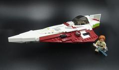 Jedi Starfighter 002 (E-Why) Tags: obiwan kenobis delta7 aethersprite class light lego starfighter interceptor star wars clone