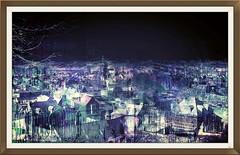 The fantastic village, art (Sebmanstar) Tags: art creation creative creatif transformed manipulation photoshop research couleur color campagne landscape travel pentax photography normandie normandy france french imagination imagine original light digital fantastic village