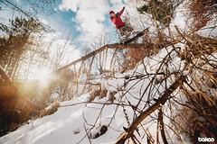 snowboarding in the forest (bakao) Tags: rollady roll all day dollallday snowpark dolomity sportowa dolina dsd forest bytom jibbing bakao michał bąk big o snowboards palto