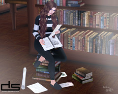 ~272~ Study Hard! (αиα ¢αραℓιиι) Tags: secondlife fashion belleza lelutka bento glamaffair sintiklia theseasonsstory ikon entice designershowcase cae fameshed zibska kirinposes