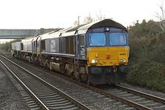 66422 Class 66/4 diesel locomotive (Roger Wasley) Tags: 66422 class 664 ashchurch station gloucestershire bridgwater crewe coal sidings train diesel locomotive railways engine direct rail services