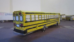 X275 - Roenigk Bus 846 (Etienne Luu) Tags: w l roenigk inc blue bird corporation tc2000 school bus paper cardstock model