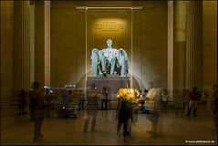 Lincoln Memorial Washington D.C. (Stefan Bock) Tags: washington washingtondc usa lincoln abrahamlincoln lincolnmemorial night people nacht menschen travel reise tourist