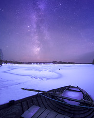 Wonders of nature (Haapih) Tags: landscape winter winterwonderland finland scandinavia suomi iisalmi kiuruvesi snow ice boat lake astrophotography nightphotography longexposure