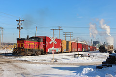 Stack Talk (view2share) Tags: ctrr cloquet cloquetterminal mn minnesota sappi sappimill sappimillcloquet deansauvola january162017 january2017 january 2017 sw1000 switch switching switches switcher sw emd electromotivedivision locomotive engine yard trains track transportation tracks transport train trackage rr railway railroading railroad railroads rail rails railroaders rring roadtrip freight freighttrain freightcar freightcars cold winter steam mill papermill dne shortline terminal industry boxcar