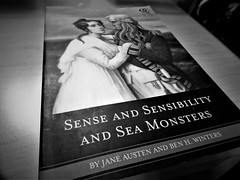 Sense And Sensibilty And Sea Monsters (Rose_A272) Tags: reading monochrome black white janeausten books indoor text blackandwhite classic literature