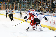 """Missouri Mavericks vs. Allen Americans, March 3, 2017, Silverstein Eye Centers Arena, Independence, Missouri.  Photo: John Howe / Howe Creative Photography • <a style=""""font-size:0.8em;"""" href=""""http://www.flickr.com/photos/134016632@N02/32430578594/"""" target=""""_blank"""">View on Flickr</a>"""