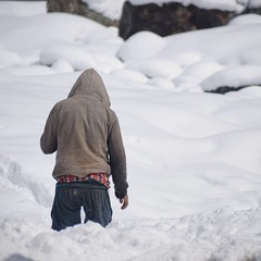 Lost in snow (s.anayt) Tags: snow kashmir nature lost