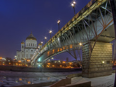 from the other side (Sergey S Ponomarev - very busy) Tags: sergeyponomarev canon eos 70d landscape city citta moscow mosca russia russie russland night notte winter inverno february 2017 febbraio hdr highdynamicrange bridge le longexposure lanterns water river ice cold frost europe church orthodox cathedral christian сергейпономарев москва пейзаж город зима февраль река храм церковь ночь россия холод лед