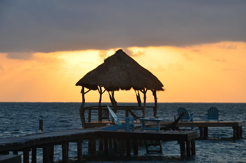 Sun rising on Caye Caulker 2