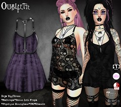 Oubliette @ The Darkness Chamber Fair (Oubliette SL) Tags: sl second life fashion event darkness chamber fair welcome hell goth gothic alternative witch witchcraft skull baphomet lace ouija tie dye boho bohemian pagan punk accessories dress mesh maitreya slink belleza tmp oubliette