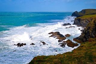 Stormy sea at Trevone.