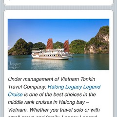 Halong legacy legend cruise & Vietnam Tonkin travel!