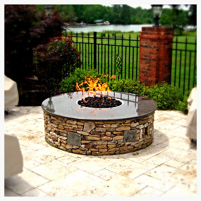 Custom 350,000 btu Fire Pit in Harrison