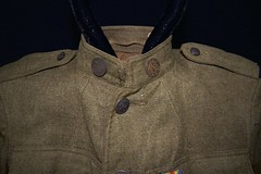 Khaki jacket w/ ribbon (Madison Historical Society) Tags: old usa history museum boat photo costume clothing interesting nikon uniform flickr ship image connecticut interior military wwi picture newengland ct places indoor monitor worldwari civilwar madison historical inside antiques greatwar firstworldwar route1 mhs conn d600 abhouse bostonpostroad ussmonitor nikond600 madisonhistoricalsociety connecticutscenes madisonhistory corneliusscrantonbushnell bobgundersen allisbushnellhouse