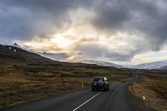 The Golden Summit (will1220) Tags: road light mountain car iceland cloudy top sony peak summit blandstindur a7markii