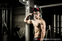 Fitness Photoshoot with Lucas (michaelboon.com) Tags: portrait sports muscles train training canon model modeling muscle sarawak malaysia weightlifting fitness gym weight kuching fit strobe lifting canon5dmarkiii
