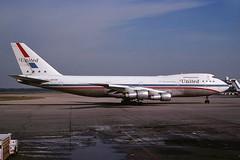 N4728U United 747-122 at KCLE (GeorgeM757) Tags: classic airplane airport friendship aircraft aviation united boeing clevelandhopkins widebody kcle alltypesoftransport 747122 n4728u georgem757