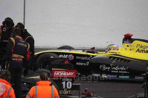 Philo Paz Patrick Armand on the Grid for the Formula Renault 3.5 Saturday Race at Silverstone