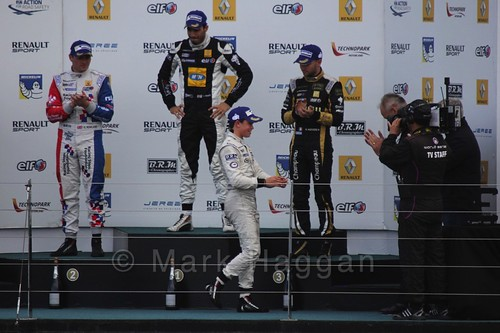 The Podium for the first WSR 3.5 race at Silverstone 2015