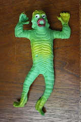 Creature Jiggler (Vics Late 1970's) (Donald Deveau) Tags: monster toys rubber vintagetoy creaturefromtheblacklagoon universalmonsters jiggler
