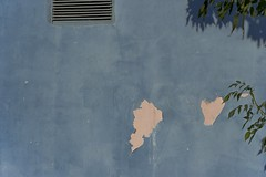 (Kirill Dorokhov) Tags: city blue light two sky cloud building tree texture leaves clouds facade leaf paint branch painted pair holes minimal damage minimalism kazakhstan wallpaint дерево тень стена алматы mikang казахстан краска синяя almaly трещины kirilldorokhov кириллдорохов