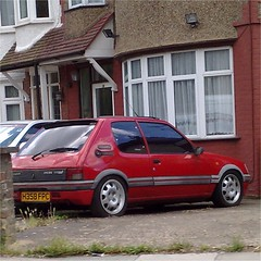 (uk_senator) Tags: red technics turbo gti peugeot 1990 205