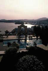 Bodrum (Halicarnassus) - Turkey (jcbkk1956) Tags: sea film pool analog 35mm turkey hotel slide scanned manual contrejour bodrum shimmer anatolia contrejoure worldtrekker hilacarnassus