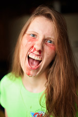 Sarah (KingFamine) Tags: halloween goofy fun scary blood fake gore fakeblood photooftheday project365 365project