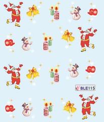 BLE115 (Jasmeet.k) Tags: santa christmas xmas tree art water nail slide musical decal transfer nailart bombastic