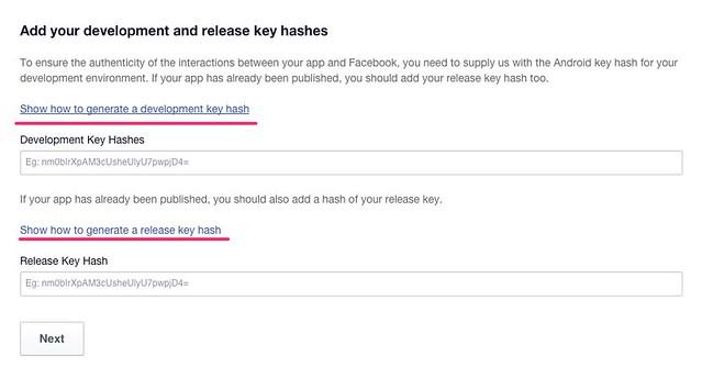 Facebook Hash Key